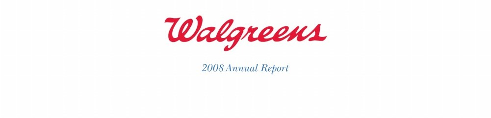 walgreens annual report analysis Certain information in this annual report, as well as in other public filings, the company web site, press releases and oral statements made by our representatives, is forward-looking information based on current expectations and plans that involve risks and uncertainties.